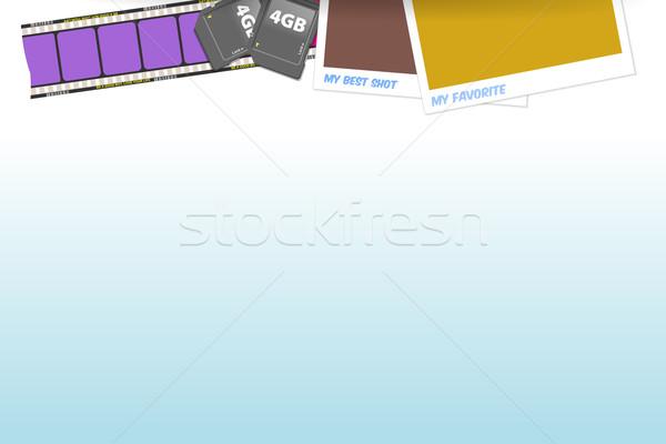 Fotógrafo ferramentas análogo film strip flash memória Foto stock © nikdoorg