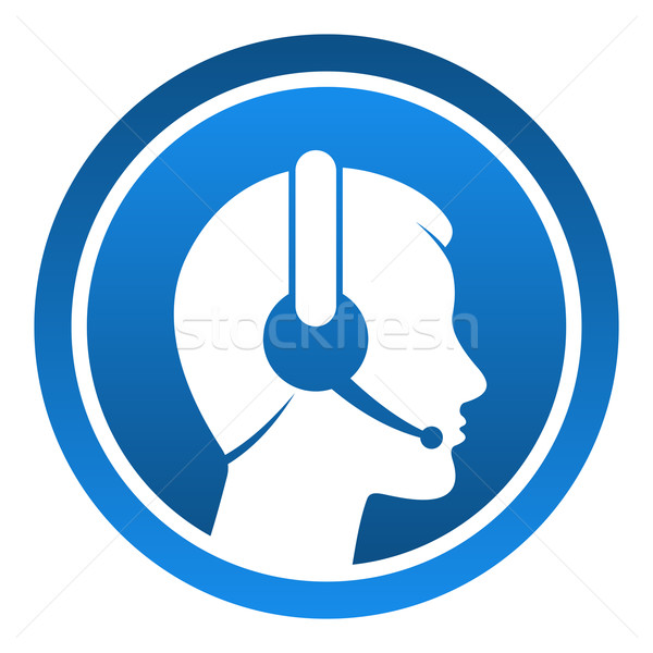 Headset Contact Icon Stock photo © nikdoorg