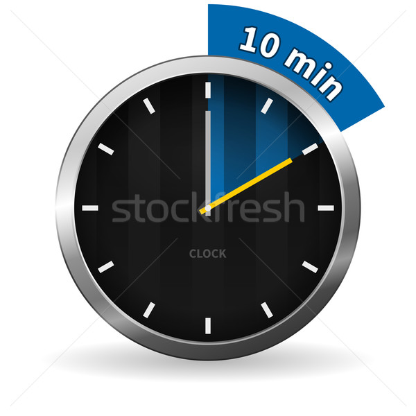 Clock 10 Minutes To Go Stock photo © nikdoorg