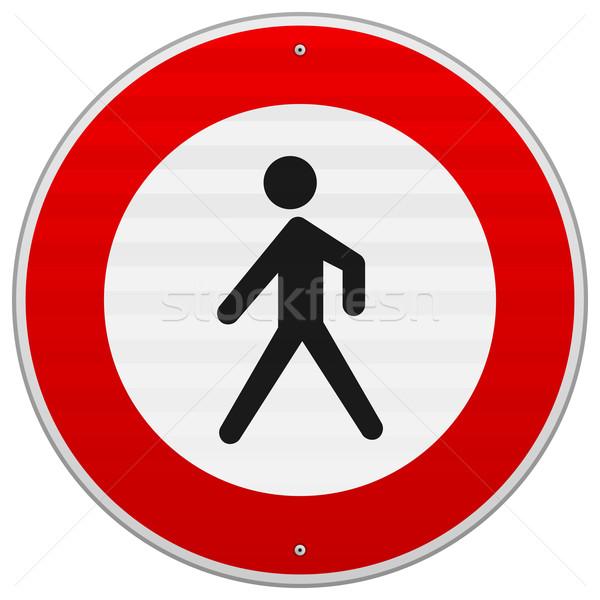 Stock photo: Entrance Forbidden Sign