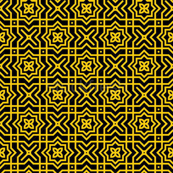 Or modèle damassé illustration jaune Photo stock © nikdoorg