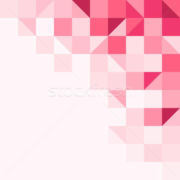 Magenta háttér struktúra mértani formák egy Stock fotó © nikdoorg