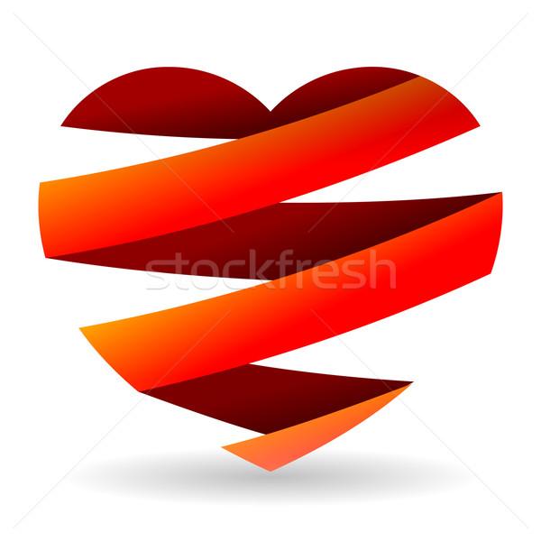 Rosso cuore isolato illustrazione nice Foto d'archivio © nikdoorg