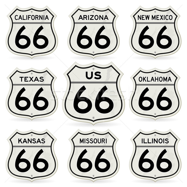 Complete Route 66 Signs Collection Stock photo © nikdoorg