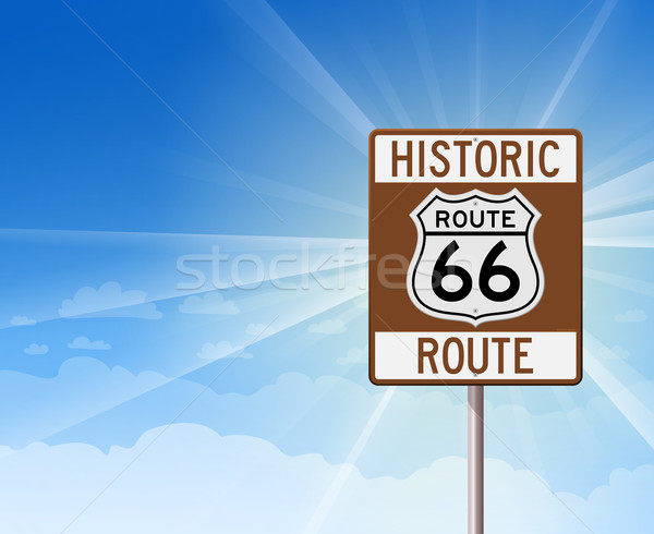 Historic Route 66 and Blue Sky Stock photo © nikdoorg