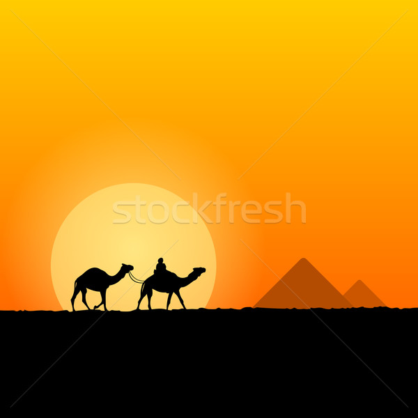 Hot African Scenery Stock photo © nikdoorg