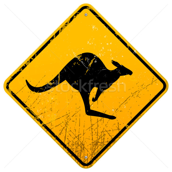 Kangaroo Vintage Sign Stock photo © nikdoorg