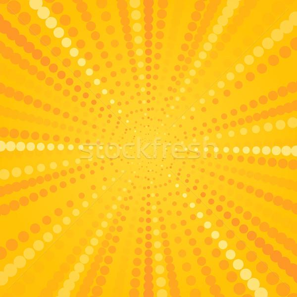 Yellow Halftone Star Stock photo © nikdoorg