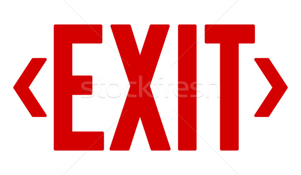 Red Exit Sign  Stock photo © nikdoorg