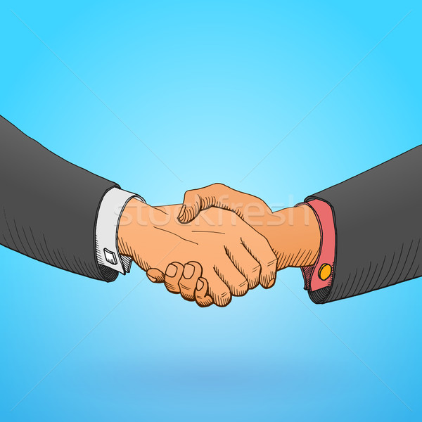 Stock photo: Handshake Illustration