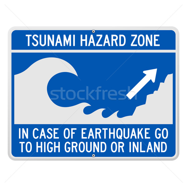 Tsunami Danger Sign Stock photo © nikdoorg