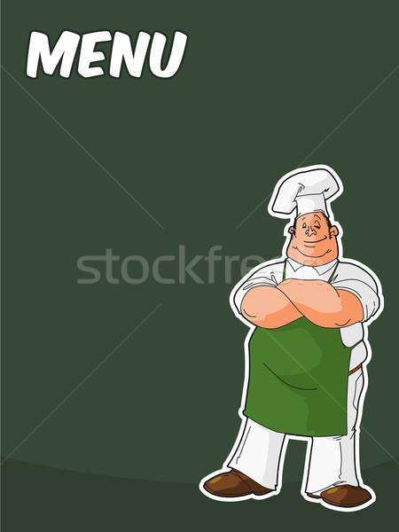 Lousa cozinhar chef restaurante jantar Foto stock © nikdoorg