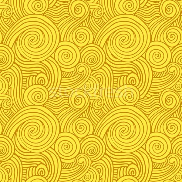 Sem costura amarelo dourado vetor padrão Foto stock © nikdoorg