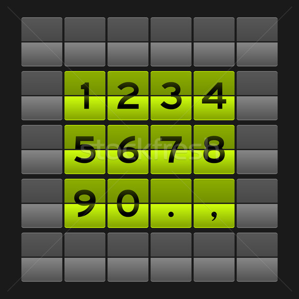 緑 番号 ダッシュボード 表示 暗い 技術 ストックフォト © nikdoorg