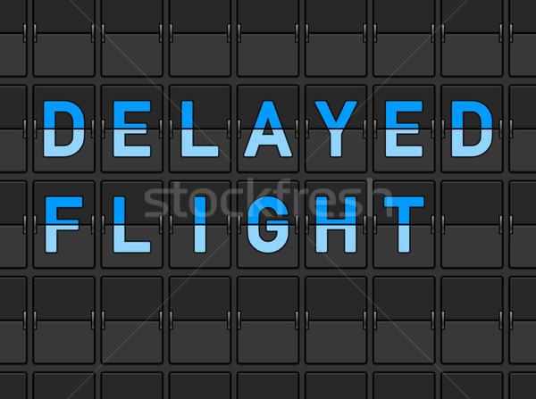 ストックフォト: 飛行 · ボード · 空港 · 旅行 · 情報 · 画面