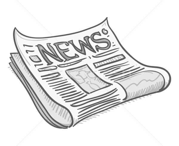 Gazete kapak sayfa geleneksel örnek haber Stok fotoğraf © nikdoorg