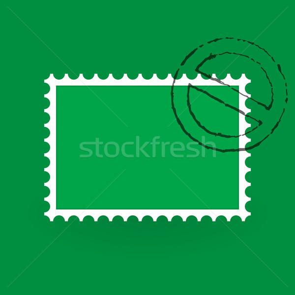 Verde ilustración sucio oficina de correos Foto stock © nikdoorg