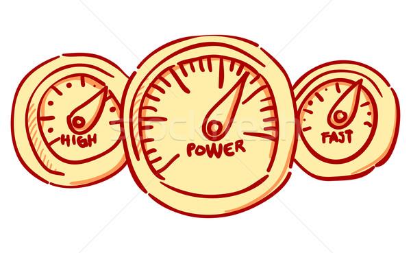 Foto stock: Velocímetro · painel · de · instrumentos · vermelho · linear · veículo · painel · de · controle