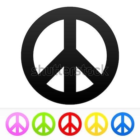 Hippie paz símbolo vetor amor assinar Foto stock © nikdoorg