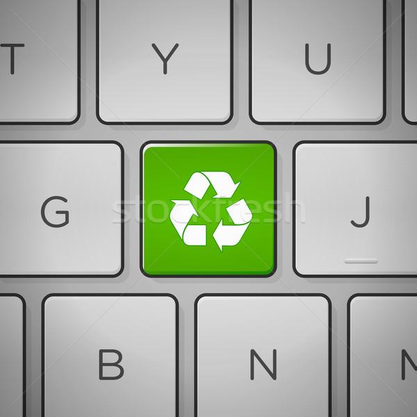 Foto stock: Reciclar · assinar · teclado · reciclagem · verde