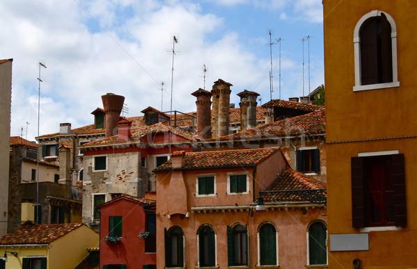 Edificios Italia tradicional veneciano arquitectura completo Foto stock © nikdoorg