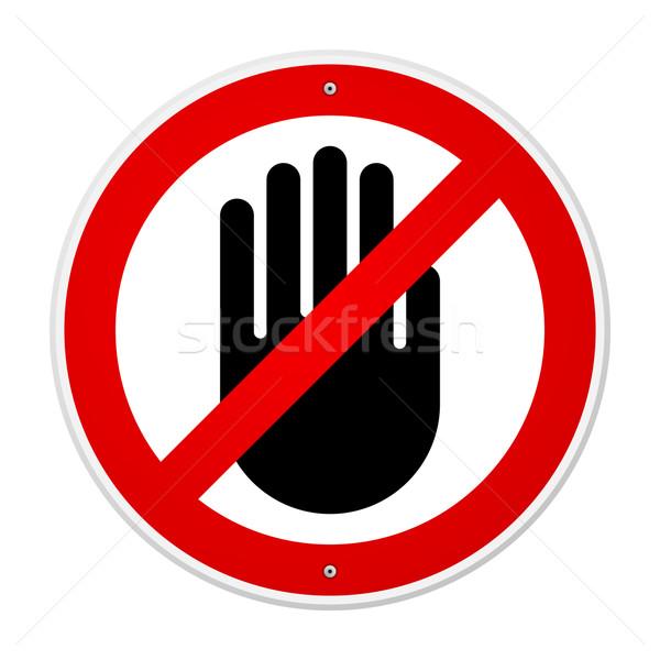 停止 手 シンボル 赤 にログイン ストックフォト © nikdoorg