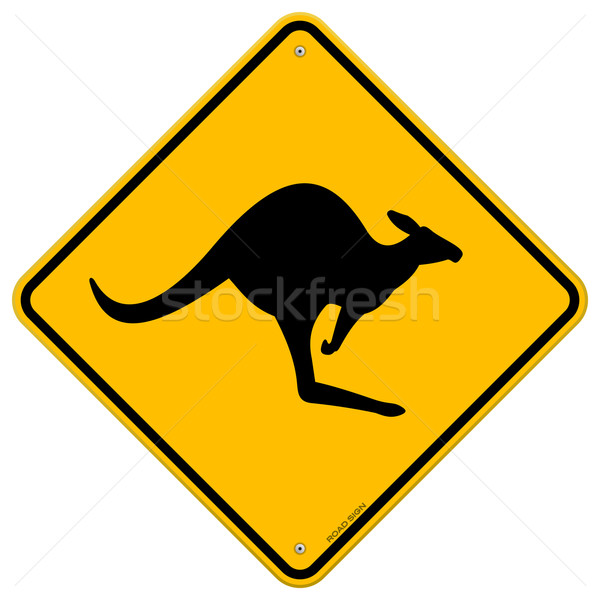 Kangaroo Sign Stock photo © nikdoorg