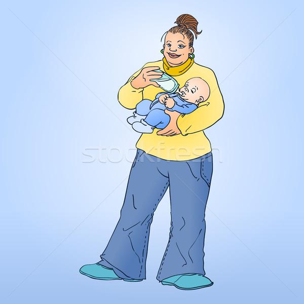 Mère enfant affectueux maman bébé Photo stock © nikdoorg