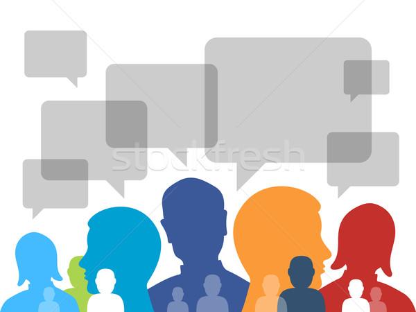 Kommunikáció szimbólum emberek világszerte üzlet szimbólumok Stock fotó © nikdoorg