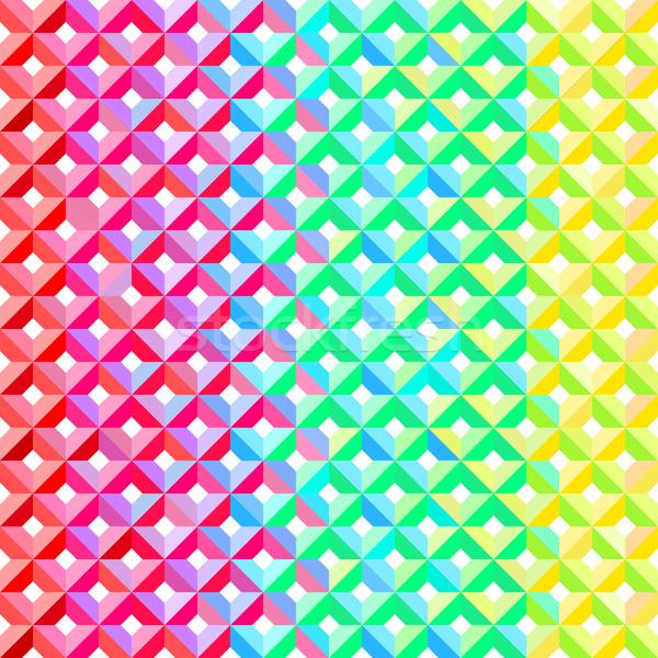 Rainbow motif géométrique coloré diamant tuiles Photo stock © nikdoorg