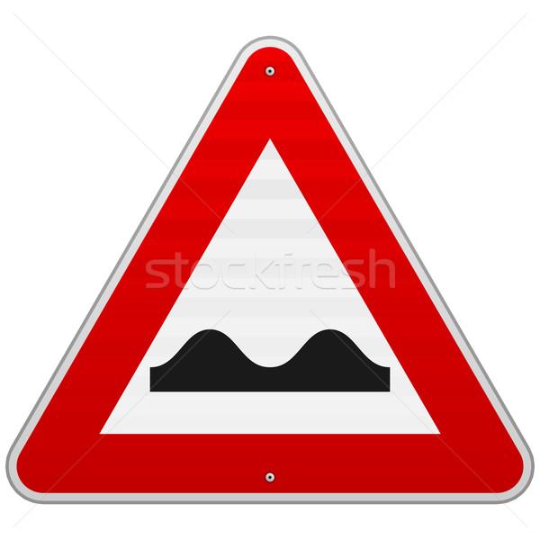 Bumpy Road Sign Stock photo © nikdoorg