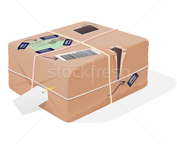 Mail Package Illustration Stock photo © nikdoorg