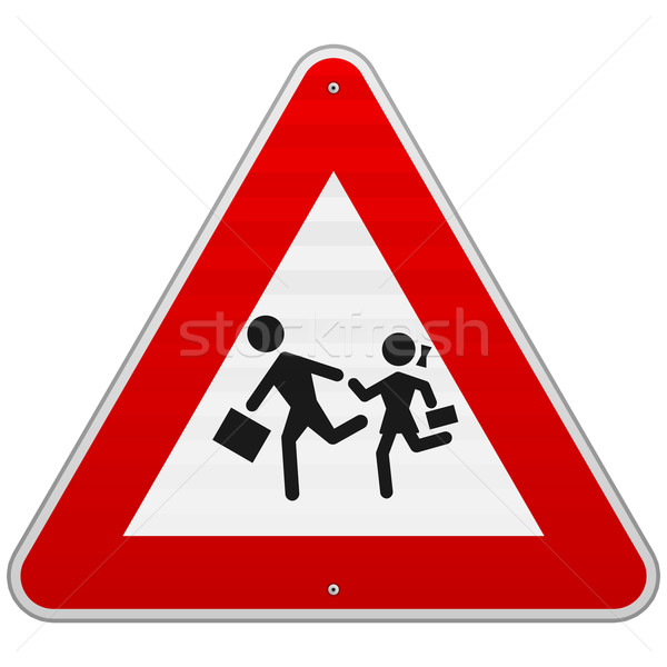Pedestrian Danger Sign Stock photo © nikdoorg