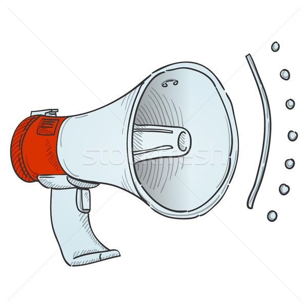 Megafone ilustração alto alto-falante equipamento isolado Foto stock © nikdoorg