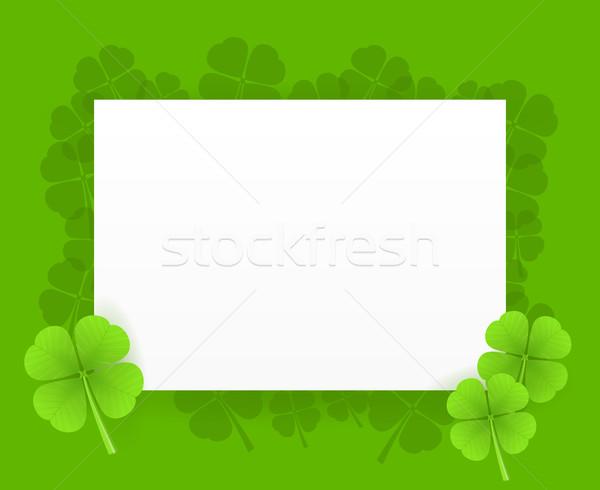 St Patrick Greeting Card Stock photo © nikdoorg