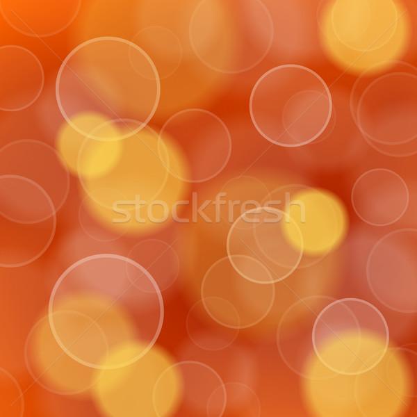 Vermelho luz bokeh círculos laranja noite Foto stock © nikdoorg