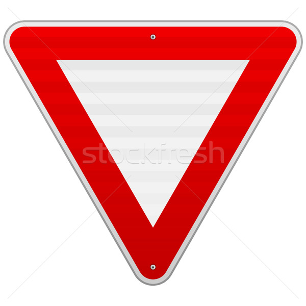 Yield Triangle Sign Stock photo © nikdoorg