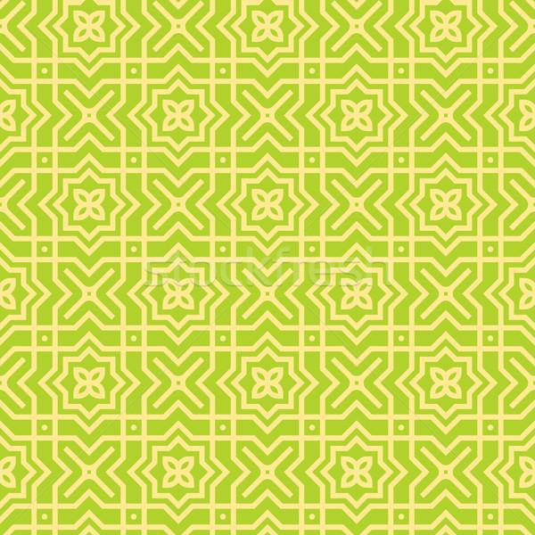Green Seamless Pattern  Stock photo © nikdoorg