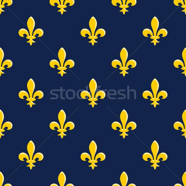 Jaune emblème modèle tulipe symbole bleu Photo stock © nikdoorg