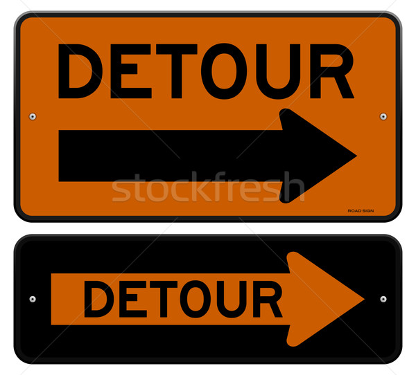 Detour Sign Stock photo © nikdoorg