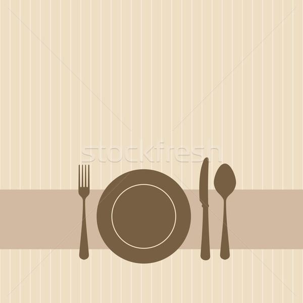 Invitation brun vecteur fête couleurs résumé Photo stock © nikdoorg