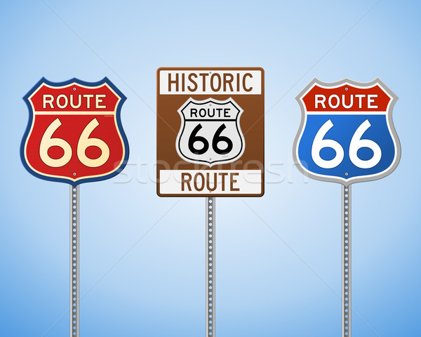 Stock photo: Route 66 Vintage Signs