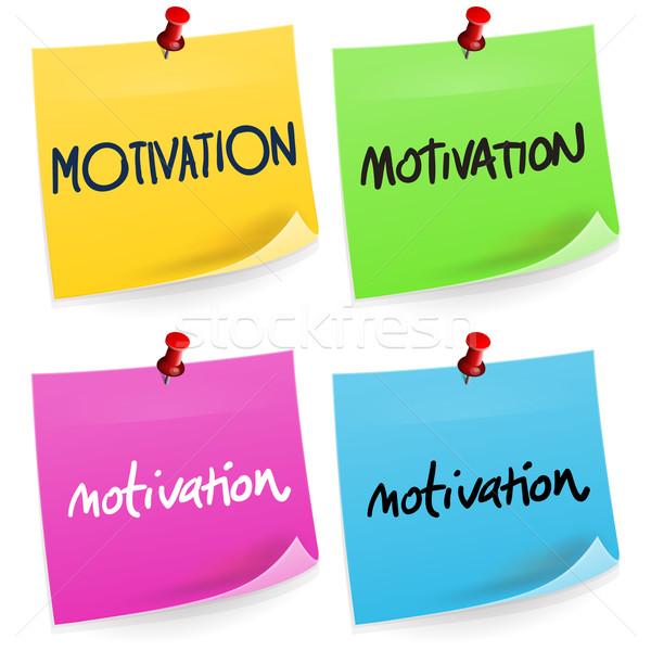 Motivation Sticky Note  Stock photo © nikdoorg