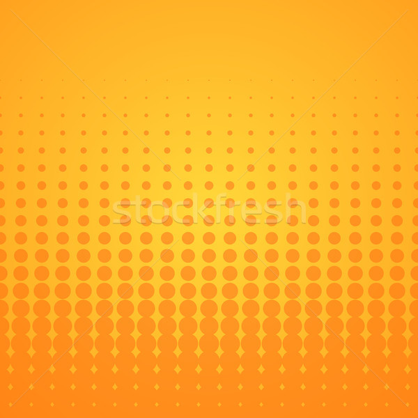 Orange Halftone Pattern Stock photo © nikdoorg