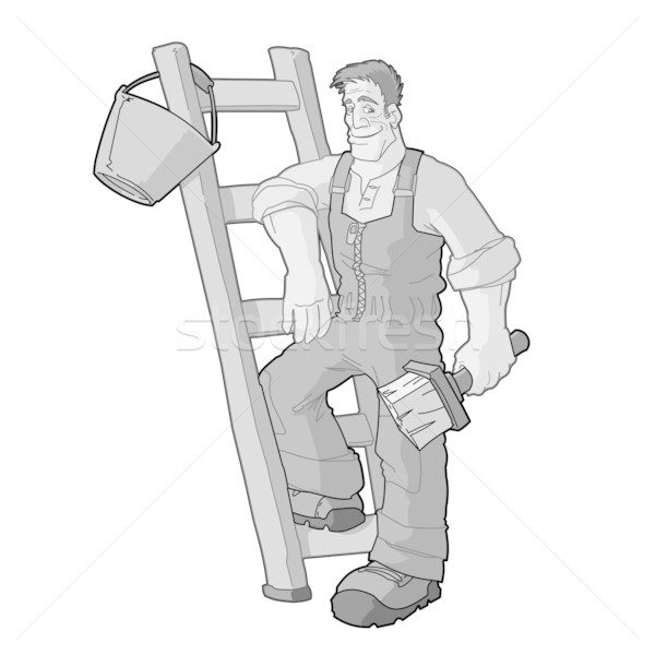Monochrome Painter Vector Stock photo © nikdoorg