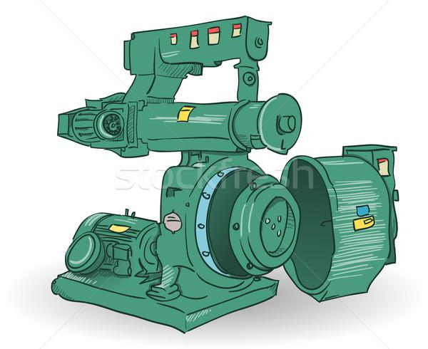 Industrielle machine illustration croquis acier Photo stock © nikdoorg