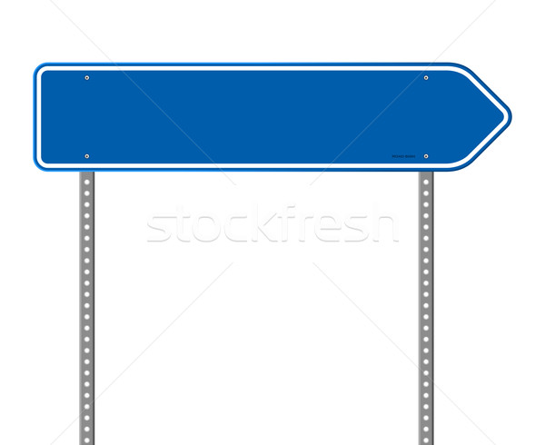 Blue Directional Road Sign Stock photo © nikdoorg