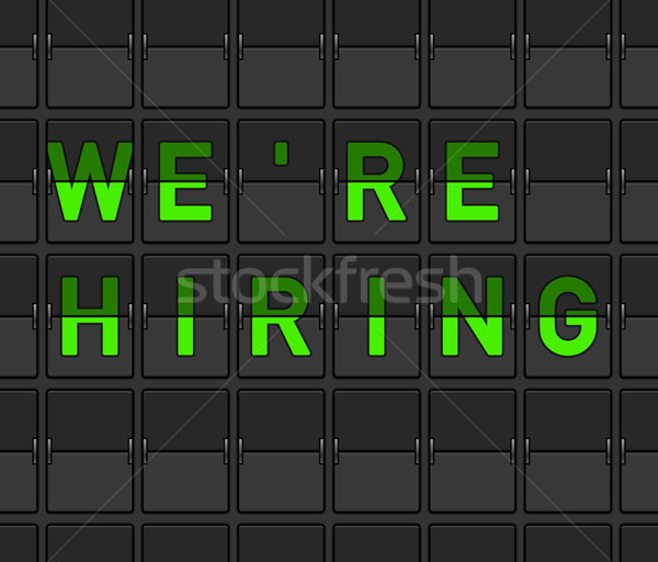 We Are Hiring Flip Board Stock photo © nikdoorg