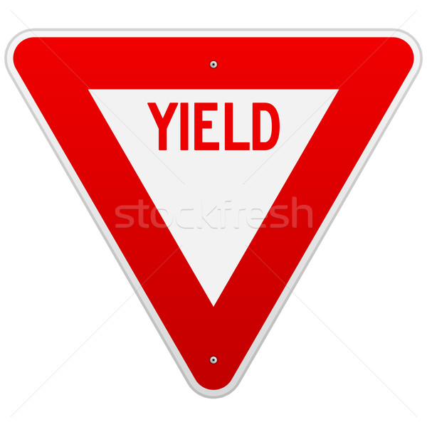 USA Yield Sign Stock photo © nikdoorg