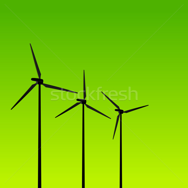 Eco Energy Turbines on Green Stock photo © nikdoorg